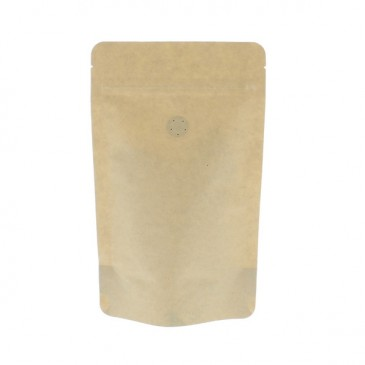 Stand Up Pouch brown Kraft paper / 100% compostable PouchDirect