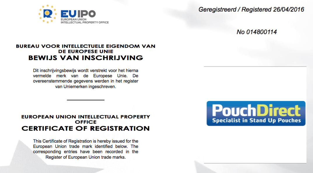 Pouchdirect Trademark